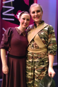 "Ms. Lindsay and I after my ballet ""Conflicts of War"""